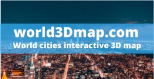 World cities interactive 3D map