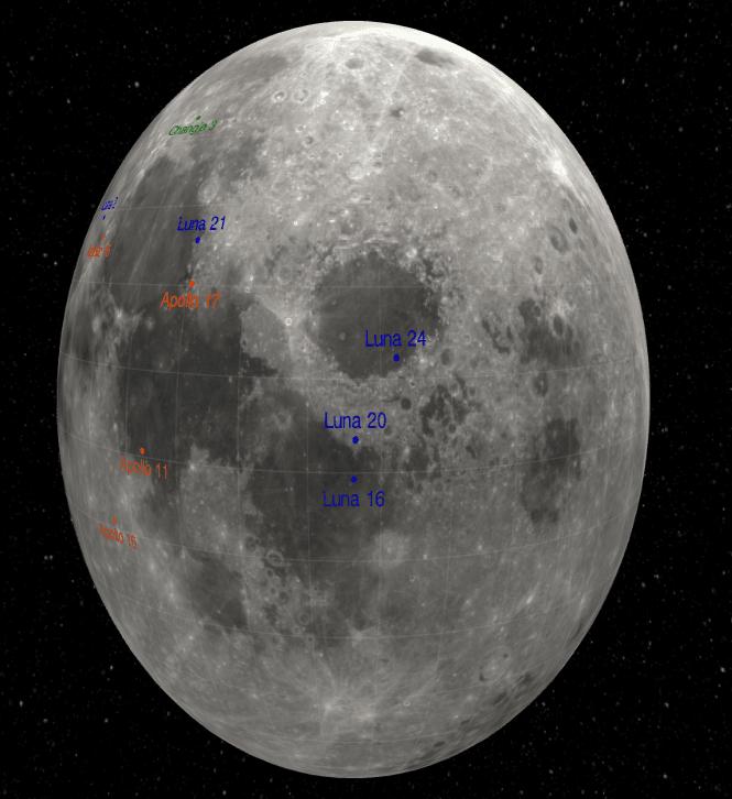 Moon Landing Sites