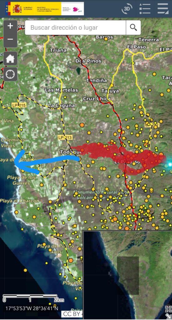 Aplicación para ver la colada de lava