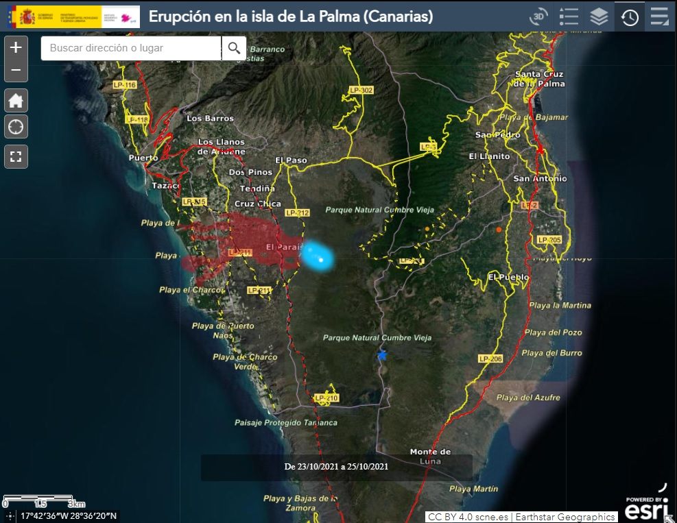 Interactive Map CANARY ISLAND VOLCANOE