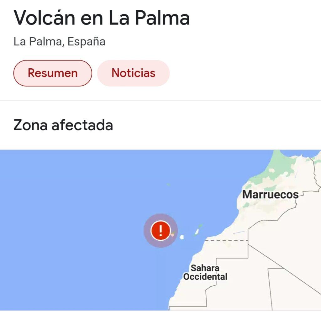 Volcan canarias erupción