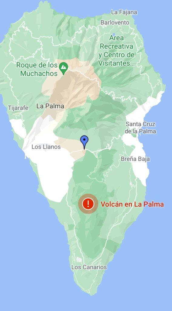 volcano erupted in Spain