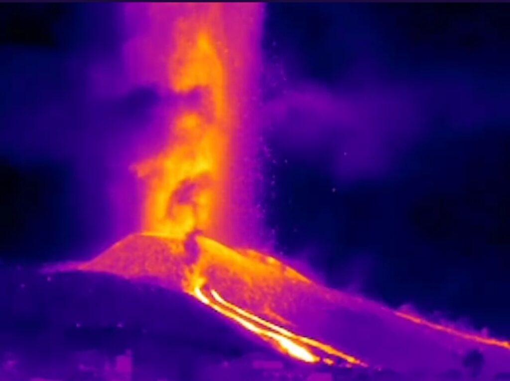 Cámaras infrarrojas volcán de La Palma