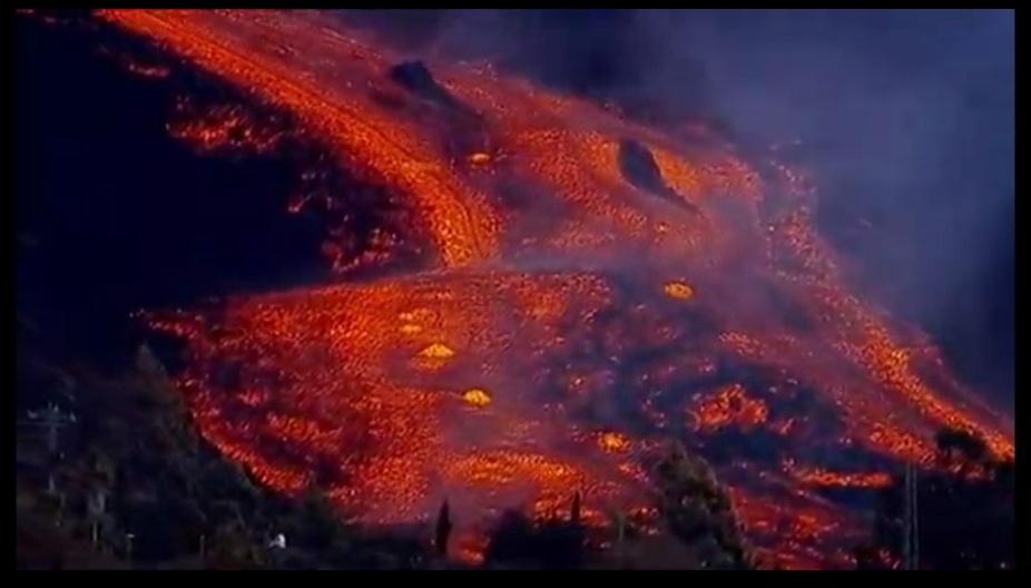 velocidad de la lava volcán de La Palma