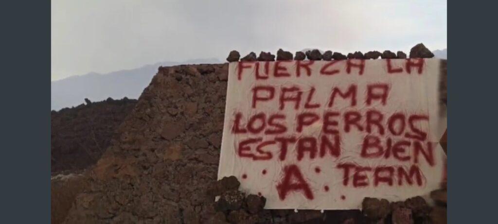 El equipo A salva los perros atrapados por el volcán La Palma